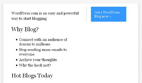 WordPress – Dec. 2005