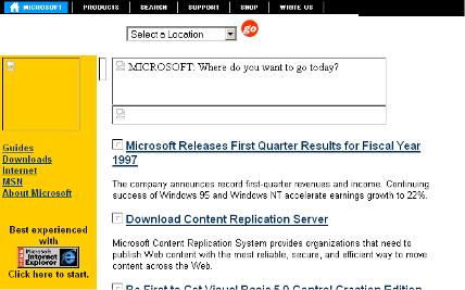 Microsoft – Oct. 1996