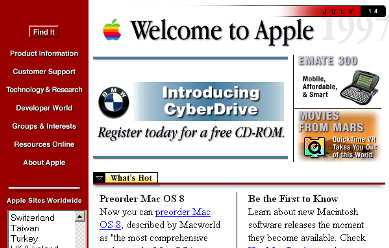 Apple Computer – Oct. 1996