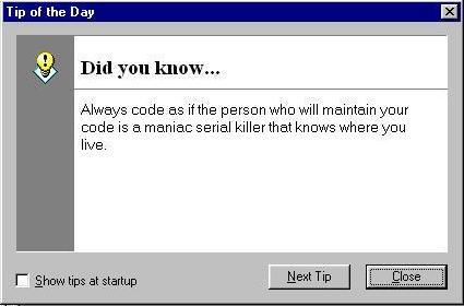 Programming Tip