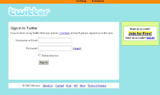 Twitter – Mar. 2007