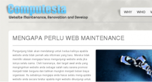 Tampilan Website Computesta
