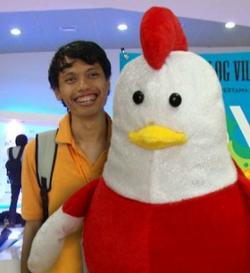 Diki bareng si Ayam