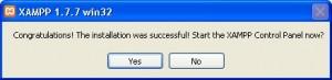 Klik Yes Untuk Menjalankan XAMPP Control Panel