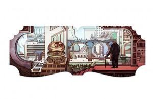 Doodle Jorge Luis Borges