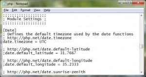 """Cari tulisan """"date.timezone"""" pada file tersebut"""